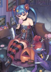 Rating: Safe Score: 40 Tags: cleavage gonster halloween sword thighhighs weapon User: Mr_GT