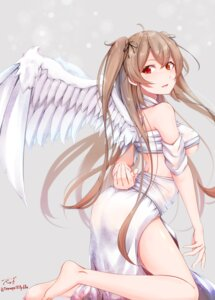 Rating: Questionable Score: 26 Tags: ass kantai_collection murasame_(kancolle) no_bra see_through tagme underboob wings User: BattlequeenYume