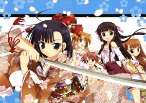 Rating: Questionable Score: 33 Tags: anna_yurievna_cocolova fujima_takuya kagurazaka_asuna kimono konoe_konoka mahou_sensei_negima negi_springfield sakurazaki_setsuna sarashi sword User: gogotea28