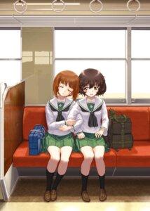 Rating: Safe Score: 13 Tags: akiyama_yukari girls_und_panzer nishizumi_miho seifuku user_zarw3833 yuri User: Mr_GT