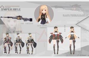 Rating: Safe Score: 9 Tags: &ether character_design garter gun tattoo thighhighs uniform User: Dreista