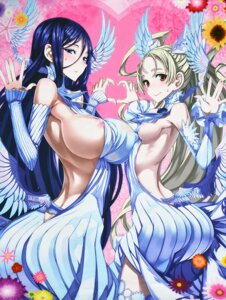 Rating: Questionable Score: 89 Tags: ass breasts dress erect_nipples honjou_raita mahou_shoujo_(raita) nipple_slip no_bra sasaki_kotone suzuhara_misae underboob wings zettai_shoujo User: demonbane1349