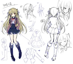 Rating: Safe Score: 31 Tags: character_design goshujin-sama_maid_fuku_o_nugasanaide. kakao monako_(brand) seifuku sketch zaizen_chinatsu User: zyll