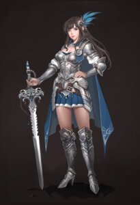 Rating: Safe Score: 20 Tags: armor cleavage heels minj_kim sword User: Mr_GT