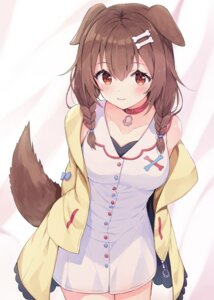 Rating: Safe Score: 24 Tags: animal_ears dress hololive inugami_korone inumimi racchi. see_through tail User: Dreista