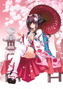 Rating: Safe Score: 65 Tags: carnelian garter hello_kitty japanese_clothes jpeg_artifacts miyabi_sakuya thighhighs User: blooregardo