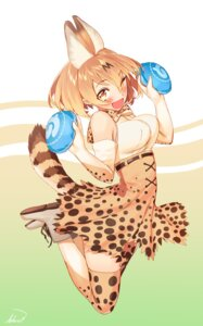 Rating: Safe Score: 22 Tags: animal_ears blew_and_white kemono_friends serval tail thighhighs User: Mr_GT