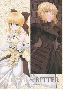 Rating: Questionable Score: 7 Tags: armor dress fate/grand_order saber saber_alter saber_lily shirotsumekusa User: Radioactive