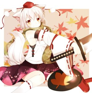 Rating: Safe Score: 16 Tags: animal_ears inubashiri_momiji pun2 sword tail touhou User: Nekotsúh