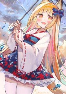 Rating: Safe Score: 20 Tags: animal_ears kitsune lolita_fashion makiaato makiss012_ak tail thighhighs umbrella wa_lolita User: Mr_GT
