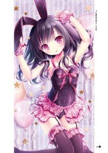 Rating: Safe Score: 34 Tags: animal_ears bunny_ears bunny_girl momijidani_nozomi stockings tagme tenshi_no_three_piece! thighhighs tinkle User: kiyoe