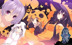Rating: Safe Score: 35 Tags: cleavage devil dress effordom_soft halloween houri_miyako mukunoki_shiori senmu thighhighs wadamori_isuka wallpaper wings witch yagiura_nagi yume_ka_utsutsu_ka_matryoshka User: sy1412