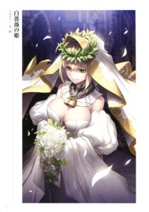 Rating: Questionable Score: 16 Tags: cleavage dress fate/grand_order kunieda saber_bride saber_extra User: Radioactive