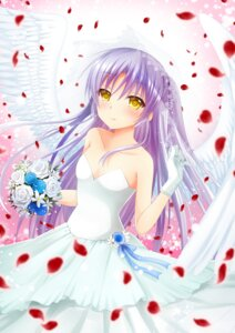 Rating: Safe Score: 15 Tags: angel_beats! chibinon dress no_bra tenshi wedding_dress wings User: Arsy