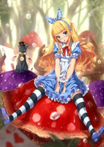 Rating: Safe Score: 30 Tags: alice alice_in_wonderland dress kazeno neko thighhighs User: Mr_GT