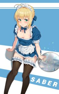 Rating: Questionable Score: 52 Tags: fate/stay_night garter happymonk maid no_bra saber thighhighs User: Dreista