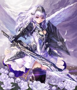Rating: Safe Score: 83 Tags: armor cleavage dress pondel sword thighhighs User: Aneroph
