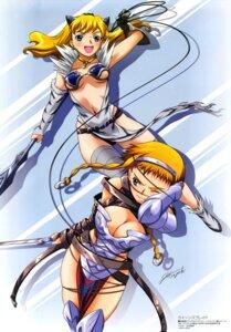 Rating: Questionable Score: 23 Tags: armor bandages bondage cleavage dress elina hisayuki_hirokazu leina pantsu queen's_blade sword thighhighs underboob weapon User: boon