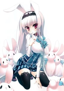 Rating: Questionable Score: 97 Tags: animal_ears bunny_ears katagiri_hinata seifuku tail thighhighs User: Radioactive