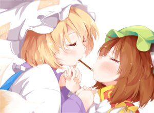 Rating: Safe Score: 35 Tags: animal_ears chen japa touhou yakumo_ran yuri User: Mr_GT