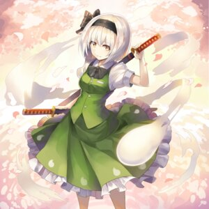 Rating: Safe Score: 19 Tags: konpaku_youmu rin_falcon sword touhou User: Nepcoheart