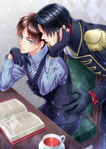 Rating: Safe Score: 3 Tags: business_suit eren_jaeger levi male shingeki_no_kyojin uniform yaoi yomi_(killer_show1) User: charunetra