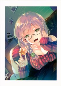 Rating: Questionable Score: 18 Tags: christmas cleavage kamizuki_shiki megane sweater thighhighs User: kiyoe