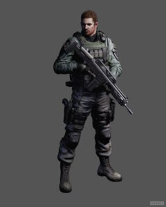 Rating: Safe Score: 8 Tags: chris_redfield gun male resident_evil resident_evil_6 watermark User: HarrisonBrown