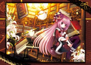 Rating: Safe Score: 21 Tags: catbell patchouli_knowledge thighhighs touhou User: ddns001