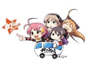 Rating: Safe Score: 3 Tags: chibi isurugi_chie kashiwara_sarina kira_kira maejima_shikanosuke shiino_kirari User: Moonworks