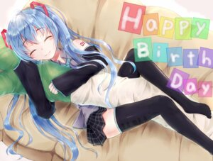 Rating: Safe Score: 38 Tags: hatsune_miku ruruki thighhighs vocaloid User: DragonSushi
