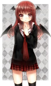 Rating: Safe Score: 35 Tags: koakuma maguro_(gulen-x) thighhighs touhou wings User: Nekotsúh
