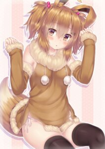 Rating: Questionable Score: 68 Tags: animal_ears anthropomorphization eevee pantsu pokemon string_panties tail thighhighs zazazazazazawa User: SubaruSumeragi