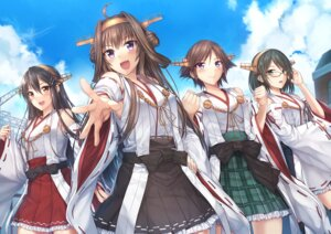 Rating: Safe Score: 36 Tags: haruna_(kancolle) hiei_(kancolle) kantai_collection kirishima_(kancolle) kongou_(kancolle) luzi megane thighhighs User: Mr_GT