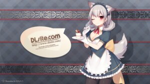 Rating: Safe Score: 25 Tags: animal_ears cleavage dlsite.com maid muryou pantyhose tail wallpaper User: Ricetaffy