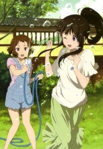 Rating: Safe Score: 101 Tags: chitanda_eru hyouka ibara_mayaka karata_hiroshi overalls wet wet_clothes User: Ravenblitz