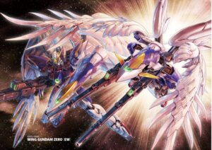 Rating: Questionable Score: 14 Tags: gun gundam gundam_wing mecha wing_gundam_zero wings User: koo35