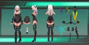 Rating: Questionable Score: 15 Tags: ass character_design heels kana616 megane no_bra stockings thighhighs User: Dreista