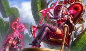 Rating: Safe Score: 35 Tags: armor ashe_(league_of_legends) cleavage heels league_of_legends tagme thighhighs tryndamere weapon User: Radioactive