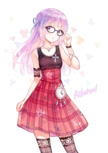 Rating: Safe Score: 109 Tags: aikatsu! dress hikami_sumire hiten megane thighhighs User: blooregardo