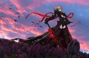 Rating: Safe Score: 43 Tags: armor fate/stay_night jian_huang saber saber_alter sword underboob User: Radioactive