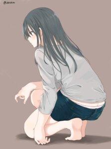 Rating: Questionable Score: 39 Tags: amu_(258shin) ass feet pantsu wardrobe_malfunction User: saemonnokami