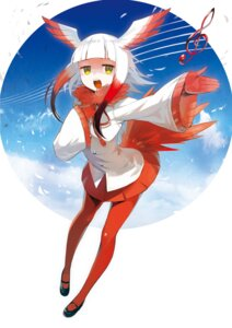 Rating: Safe Score: 32 Tags: crested_ibis kemono_friends pantyhose tail tokichi wings User: Mr_GT