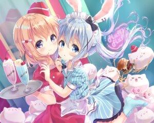 Rating: Safe Score: 47 Tags: animal_ears bunny_ears gochuumon_wa_usagi_desu_ka? heels hoto_cocoa kafuu_chino maid waitress waki_(pixiv2609622) User: Mr_GT