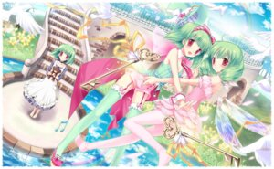 Rating: Safe Score: 45 Tags: kimishima_ao macross macross_frontier ranka_lee stockings thighhighs wings User: fairyren