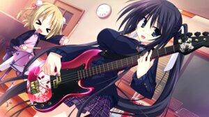 Rating: Safe Score: 25 Tags: game_cg guitar hinata_mutsuki izumi_kyouka kouda_hazumi seifuku skyfish yotsuiro_passionato! User: WtfCakes