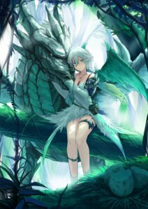Rating: Safe Score: 45 Tags: armor cleavage garter horns kyaro monster wings User: sym455