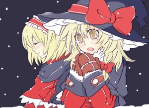 Rating: Safe Score: 6 Tags: alice_margatroid christmas kirisame_marisa popoin touhou User: bagels