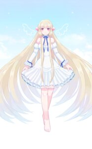 Rating: Safe Score: 26 Tags: chii chobits cleavage dress feet saino see_through wings User: charunetra