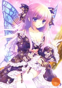 Rating: Safe Score: 19 Tags: cleavage fairy lolita_fashion stockings tagme thighhighs wa_lolita wings User: fireattack